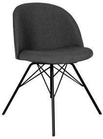Ally design szék, antracit szövet, fekete láb