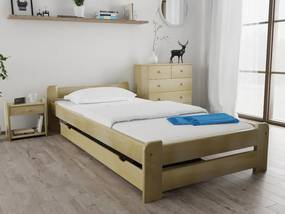 Emily ágy 80x200 cm, fenyőfa Ágyrács: Deszkás ágyráccsal, Matrac: Deluxe 15 cm matraccal
