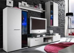 Nappali szekrénysor, fehér, SALESA II.