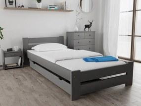 Magnat Ola ágy 80x200 cm, szürke Ágyrács: Deszkás ágyráccsal, Matrac: Matrac nélkül
