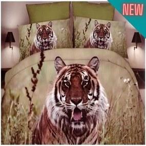 pamut tigris mintás ágyneműhuzat barna alapon 7-reszes