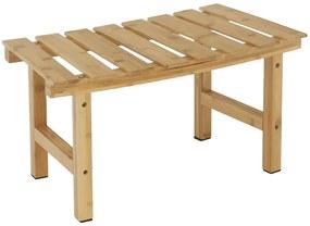 Íves kisasztal pezsgőfürdőhöz, természetes bambusz, VIREO TYP 3