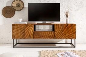 ELIXYR mangófa TV-szekrény - barna