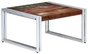vidaXL tömör újrahasznosított fa dohányzóasztal 60 x 60 x 35 cm