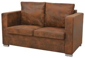 vidaXL 2-személyes, műbőr kanapé 137 x 73 x 82 cm