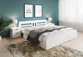 BRANCO 2 ágy + ágyrács AJÁNDÉK, 160x200, fehér