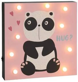 Hatu Panda fali LED dekoráció, 26 x 4x 26 cm