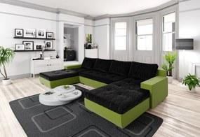 szétnyitható Ülőgarnitúra ALEXIE U, 322x183, Kornet 10/Neo 17 zöld