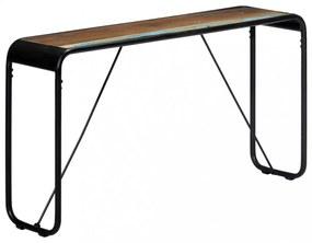 Tömör, nyers újrahasznosított fa tálalóasztal 140 x 35 x 76 cm