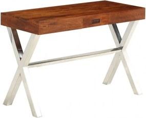 Tömör akácfa íróasztal rózsafa felülettel 110 x 50 x 76 cm