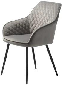 Stílusos szék Dana szürke bársony