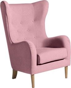 Miriam rózsaszín füles fotel - Max Winzer