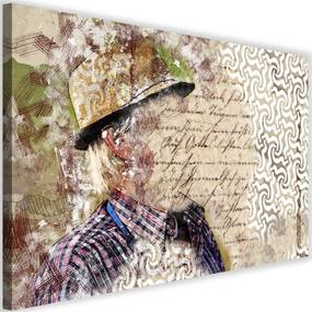 Modern kép 60x40cm – The Man In The Hat Abstraction