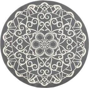 Capri szürke kerek szőnyeg, ø 200 cm - Zala Living