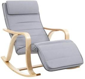 SONGMICS relaxációs szék, állítható lábtartóval
