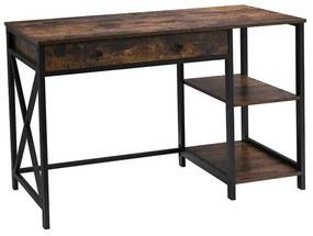 Számítógép asztal polcokkal  115 x 60 x 76 cm