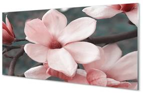 Akrilképek rózsaszín virágok 140x70 cm