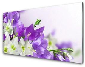 Üvegkép virágok növények 140x70 cm