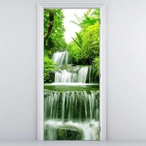 Fotótapéta ajtóra - Vízesés az esőerdőben (95x205cm)