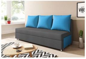RITA kanapé, szürke+kék (alova 48/alova 29)