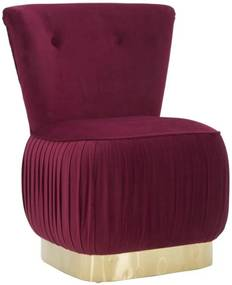 LADY BORDEAU bordó és arany bársony fotel