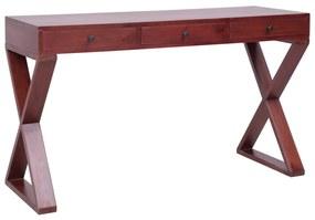 vidaXL barna tömör mahagóni számítógépasztal 132 x 47 x 77 cm
