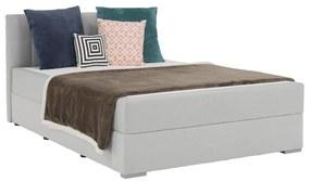 Boxspring típusú ágy 120x200, világosszürke, FERATA KOMFORT