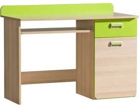 Ego K87_120 Számítógépasztal - barna-zöld