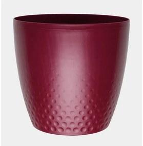 Perla műanyag kaspó, 16 cm, bordó