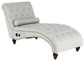 Steppelt eco bőr relax fotel, bluetooth hangszóróval, világosszürke - JOSEPHINE
