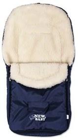 NEW BABY   Bundazsákok   Téli lábzsák New Baby Classic Wool kék   Kék  