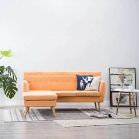 L-alakú narancssárga szövetkanapé 171,5 x 138 x 81,5 cm