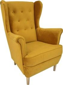 SD DEANA füles fotel - sárga