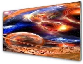 Üvegfotó világegyetem absztrakció 140x70 cm
