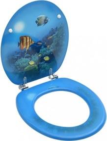 Mélytengeri mintás mdf wc-ülőke fedéllel