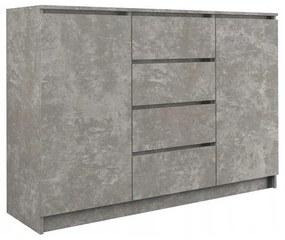 Arosa 2D4S komód, beton