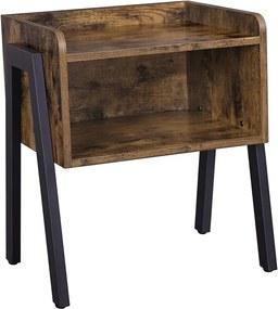 Rusztikus barna kis asztal 35 x 42 x 52 cm