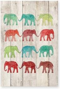 Elephants Cue fa dekoratív tábla, 40 x 60 cm - Surdic