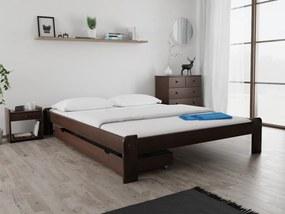 Magnat ADA ágy 140x200 cm, diófa Ágyrács: Ágyrács nélkül, Matrac: Deluxe 15 cm matraccal