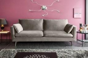HIGHLIGHT design bársony kanapé - 210cm - szürke