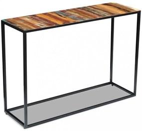 Újrahasznosított tömör fa konzolasztal 110 x 35 x 76 cm