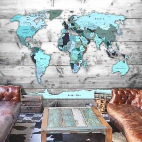 Fotótapéta - World Map: Blue Continents