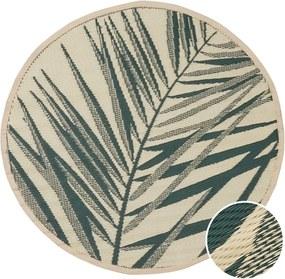 COLOUR CLASH kül- és beltéri szőnyeg, pálmalevelek Ø118cm