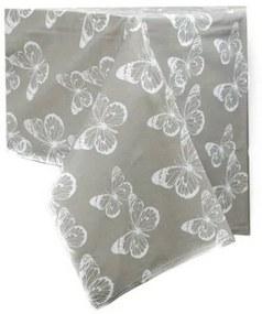 Pillangós abrosz, szürke, 145 x 180 cm