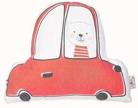 Pillow Toy Car piros pamut keverék gyerekpárna, 25 x 30 cm - Mike & Co. NEW YORK
