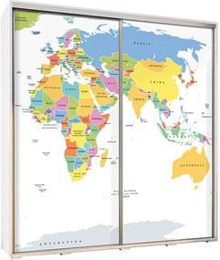 MR Ruhásszekrény a gyerekszobába 205 - világtérkép II