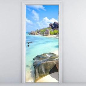 Fotótapéta ajtóra - La Digue, Seychelly (95x205cm)