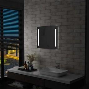 vidaXL LED-es fürdőszobai falitükör 60 x 50 cm