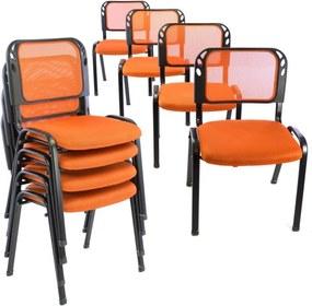 Konferencia szék GARTH 8db - narancssárga