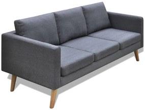 vidaXL sötétszürke 3 személyes szövet kanapé